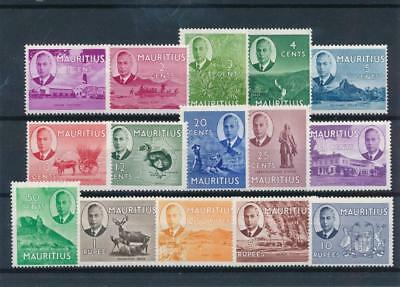 [58555] Mauritius 1950 good set MNH Very Fine stamps $70
