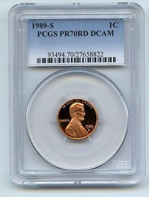 1989 S 1C Lincoln Cent Proof PCGS PR70DCAM