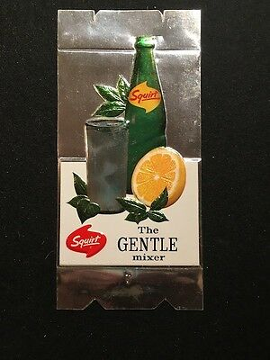 Squirt Soda Store Counter Display Die-Cut Foil Unused