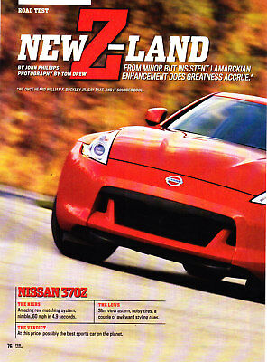 2009 Nissan 370Z Coupe Road Test Technical Data Review Print Article