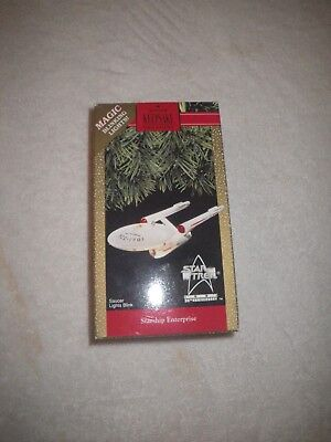 Star Trek Christmas Ornament. Starship Enterprise in box.  Hallmark.  1991