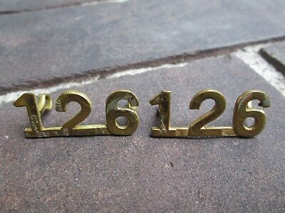 WWI CEF 126th (Peel) Overseas Battalion Number Shoulder Title Set