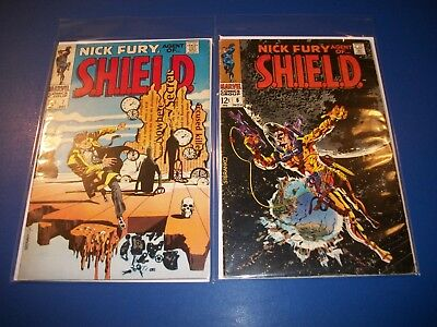 Nick Fury Agent of Shield #6,7 Silver age lot of 2