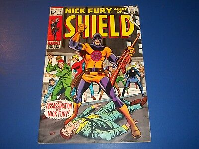 Nick Fury Agent of Shield #15 Silver Age 1st Bullseye Fine+ Beauty