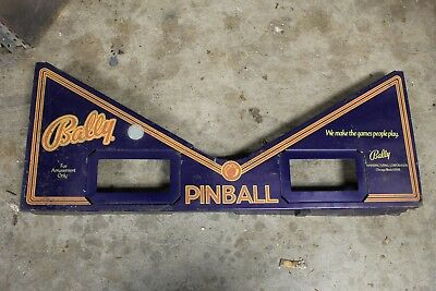 Bally Paragon Pinball Machine Playfield Card Apron