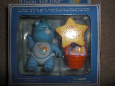 vintage 80's kenner care bears baby tugs bear with big diggity bucket new figure
