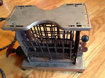 Antique Vintage Electric Toaster Two Slice Spinner Mfg. Co. Boston Mass. No.x526