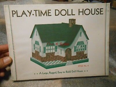 Vintage Built Rite Toy Doll House in Box Never Used #4