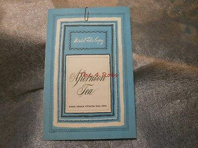 Vintage 1955 Marshall Field & Co. Afternoon Tea Restaurant Menu Chicago