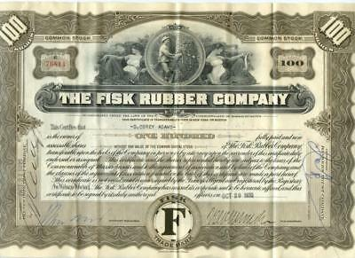 Massachusetts 1932 Fisk Rubber Tire Company Stock Certificate ABN Uniroyal #7