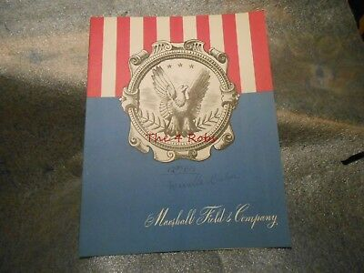Vintage 1948 Marshall Field & Co. Walnut Room Restaurant Menu Chicago