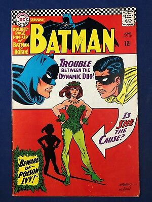 Batman #181 DC Comics 1st appearance of Poison Ivy w/ pin up Silver Age
