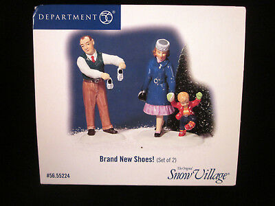 Dept. 56 Brand New Shoes Set of 2 Snow Village 55224 With Box & Original Packagi