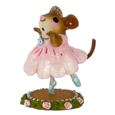 PETITE BALLERINA by Wee Forest Folk, WFF# M-455, Ballet Mouse, Pink