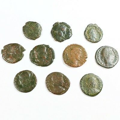 Ten (10) Nicer Ancient Roman Coins c. 100 - 375 A.D. Exact Lot Shown rm2884