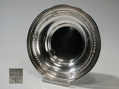 Vintage Watson Sterling Silver Sweetmeats Bowl 9885 Repousse Reticulated Rim 65g