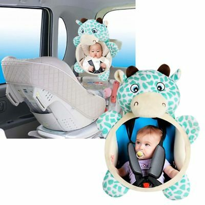 Wide View Rear Adjustable Safety Seat Car Back Mirror Headrest Mount For Baby