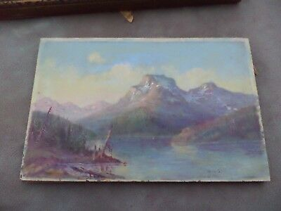 Listed Artist William Walter Seltzer Oil Painting On Board WWS