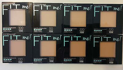 Maybelline Fit Me Matte + Poreless Powder Normal to Oily Makeup U choose