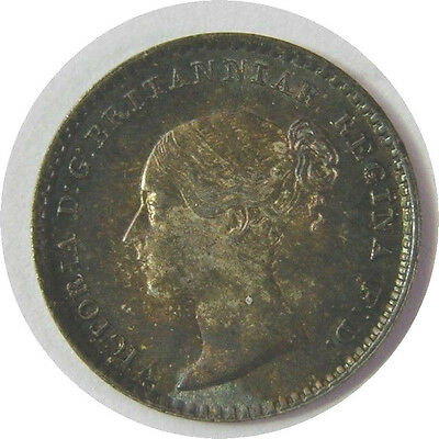 elf  Great Britain 1 Penny 1865 Silver  Victoria   Maundy