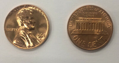 1968 D Bu Lincoln Memorial Cent Penny
