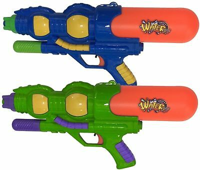 2x Water Gun Pump Action Pistol Outdoor Shoot Blaster Super Soaker Kids Toy UK