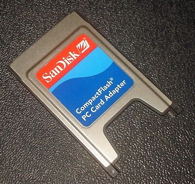 Sandisk Compact Flash Cf To Pc Card Adapter Sdad 38 A10 Compactflash 10 00 Picclick