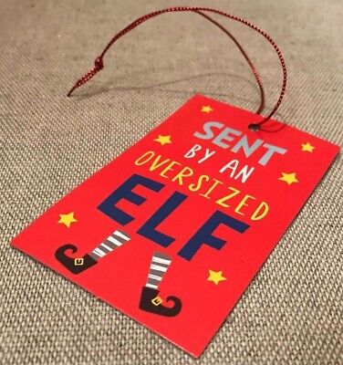 400 OVERSIZED ELF GIFT TAGS CHRISTMAS PRESENT WRAPPING 40 x 10 NEW TAG X203