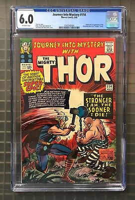 JOURNEY INTO MYSTERY The Mighty THOR #114 Marvel Comics 1965 CGC 6.0