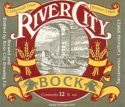 River City-California's Own Brown Lager-Beer Label-3 1/2 By 3 1/4 Nches