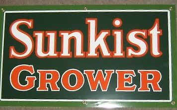 Sunkist Grower Porcelain  Metal Sign       Nr
