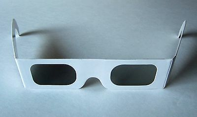 12 Linear Polarized Cardboard 3-D GLASSES for Stereo Slide Projection / Movies