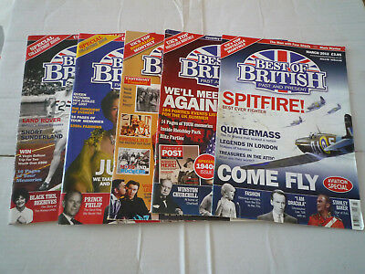 5 Issues Of Best Of British Magazine See Below For Issue No