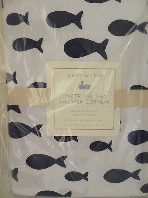 Pottery Barn Kids Under The Sea Shower Curtain New 72 X 72 Inch