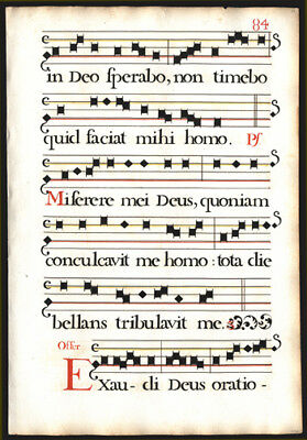 Commemoration Of Faithful Departed Antiphonal 1725 Music Leaf  Lovely Stencils
