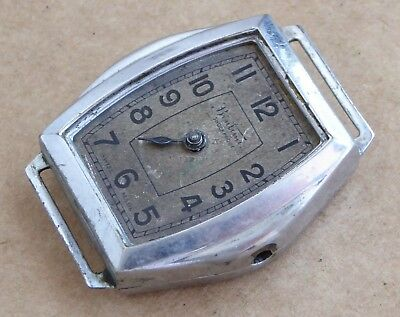Vintage art deco watch for repair, Bentima with early Oris movement, 32mm case.