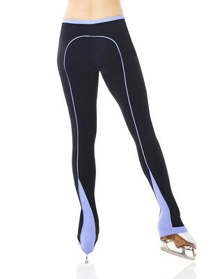 New Mondor 24806 Supplex Performance Ice Skating Leggings  Black / LILAC