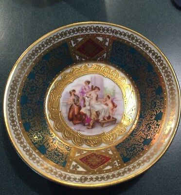 Dish Or Saucer Plate With Purse Hallmark 5 inches in Diameter Italian Design