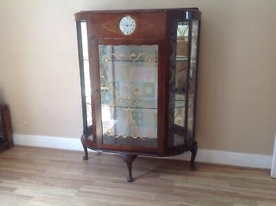 Art Deco Smiths Clock Display Cabinet