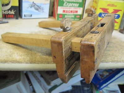 ANTIQUE PLOW PLANE WOODEN  MOLDING 1800's GROOVE SLIDING FENCE RABBET HAND TOOL