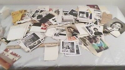 Large Lot Vintage Caucasian & African American Family Photographs