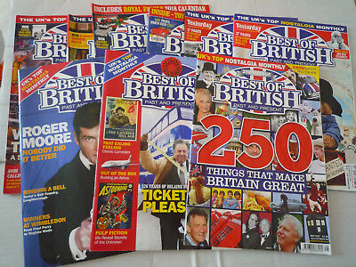9  Issues Of Best Of British Magazine See Below For Issue No