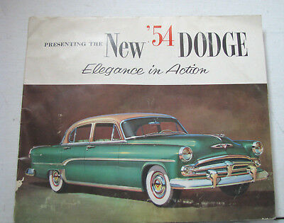 1954 DODGE....PRESENTING THE NEW '54 DODGE...Elegance in Action  (DAMAGED)