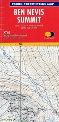 Ben Nevis XT40 Summit Map 1:12,500 Harvey Map