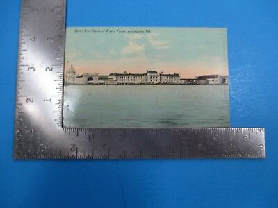 Vintage Bird's Eye View of Water Front Annapolis Maryland Post Card PC57