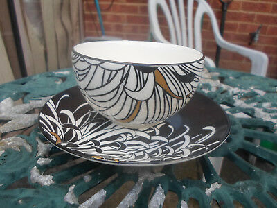 Denby Monsoon Home Chrysanthemum Pattern Fine China Cup and Saucer