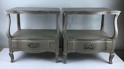 John Widdicomb Vtg Pair of French Provincial Style Nightstands