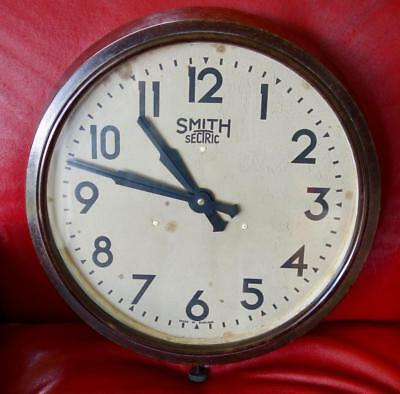 "Lovely Vintage 12"" Art Deco Smiths Working Bakelite School Railways Office Clock"