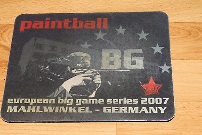 Vintage Paintball Gotcha Stuff BIG GAME Mahlwinkel Mousepad PROMO MERCH KPS