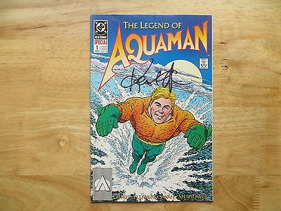 1989 Vintage Dc Comics Aquaman # 1 Signed By Keith Giffen, With Poa